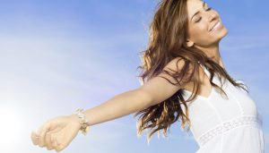 carefree woman happiness freedom